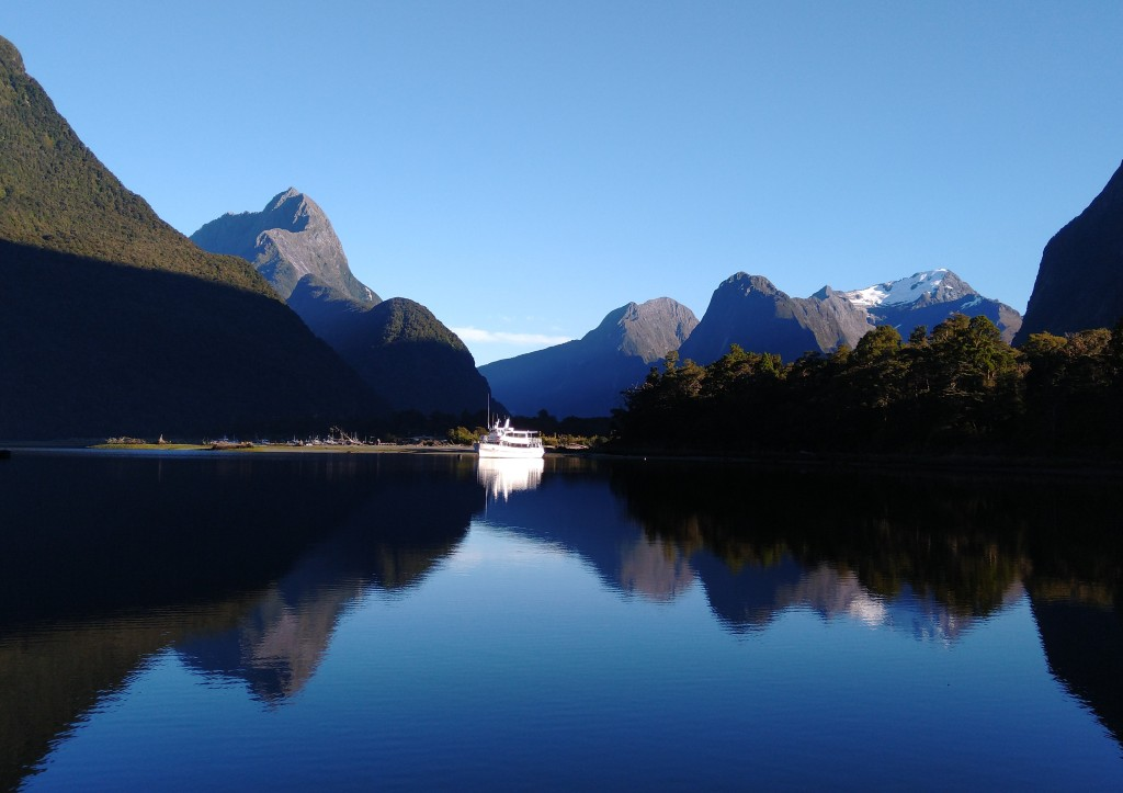 Early Morning Milford Sound. Photo Ray Penson