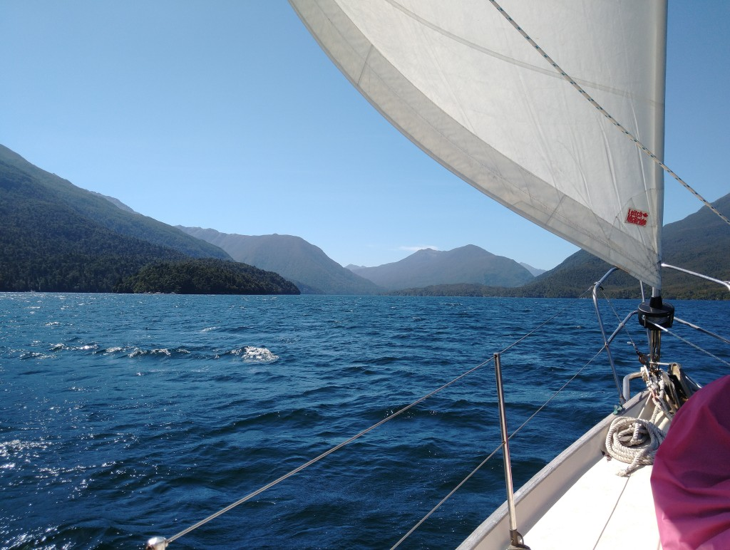 Sailing up Edwardson Sound. Photo Ray Penson