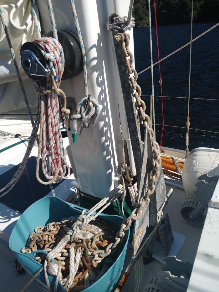Spare anchor ready to go. Photo Ray Penson