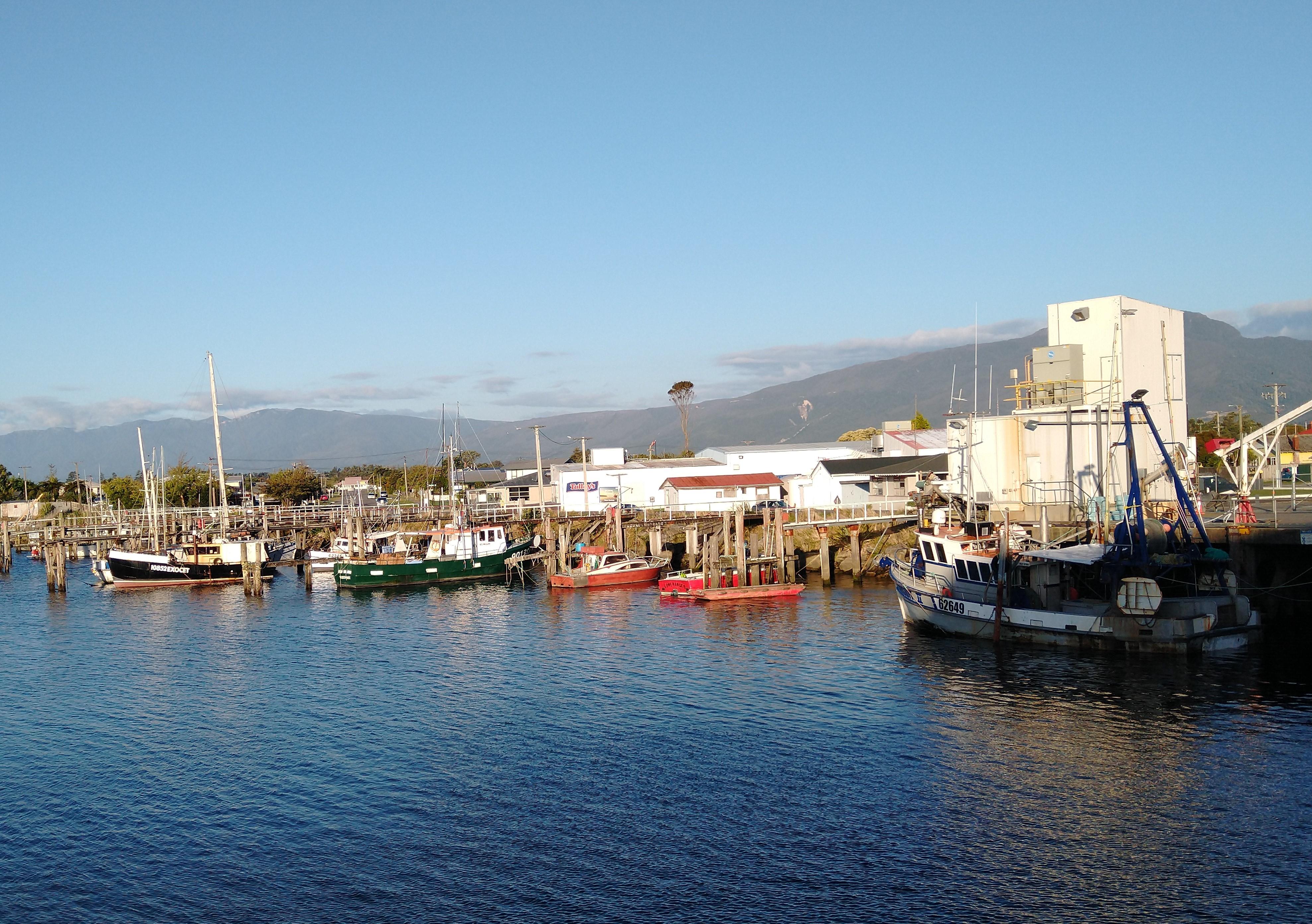 Westport Fishing Harbour. Photo Ray Penson