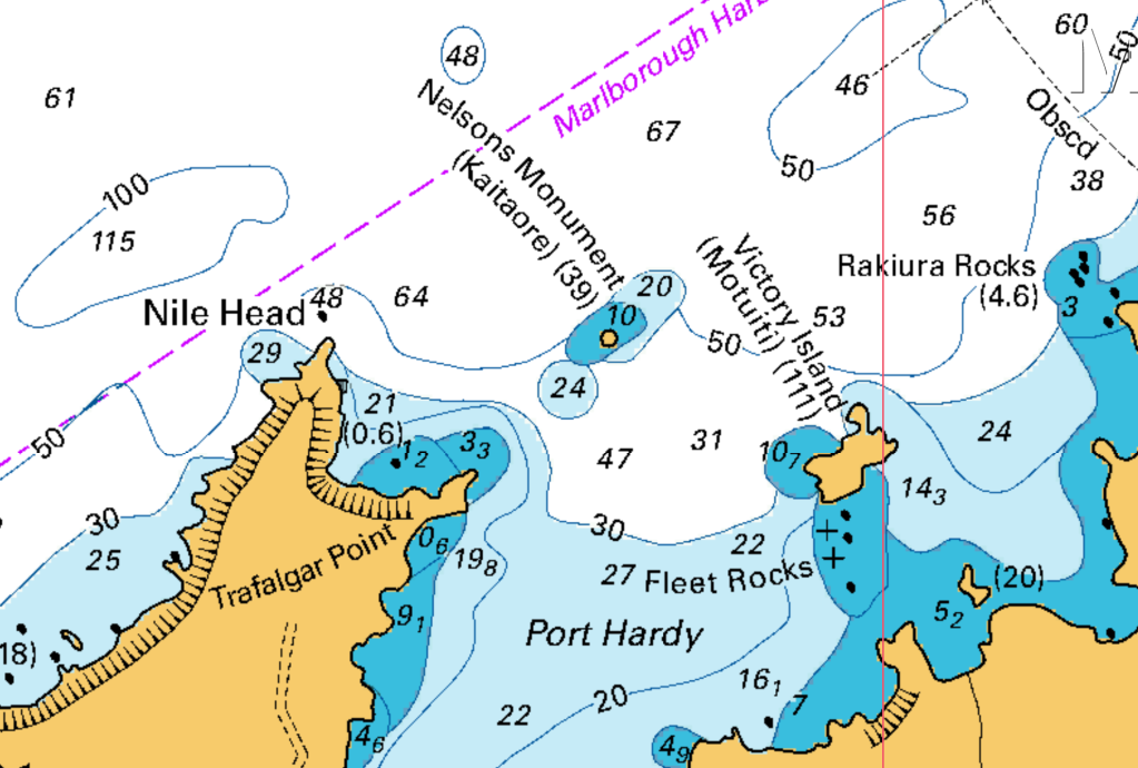 Chart Extract Port Hardy
