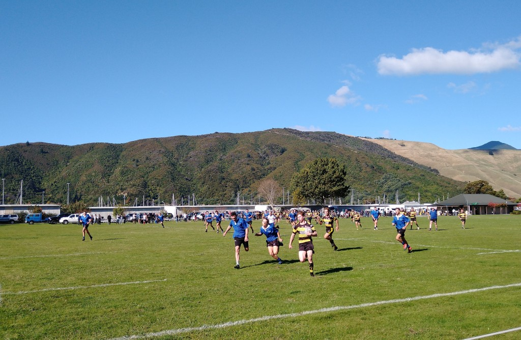 Havelock Rugby Match, Picton Vs Pelorus. Photo Ray Penson